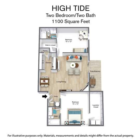 1100 Square Feet