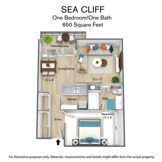 650 Square Feet