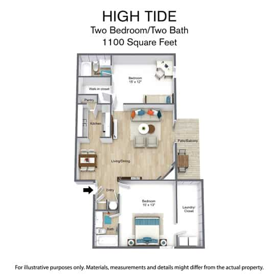 East Bay Floor Plan - High Tide