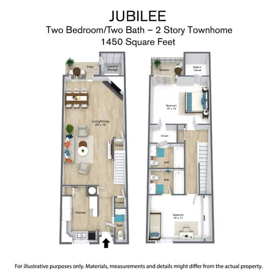 East Bay Floor Plan - Jubilee