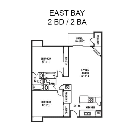 East Bay Floor Plan